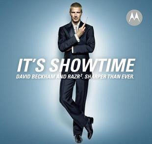 David Beckham in a Motorola advertisement